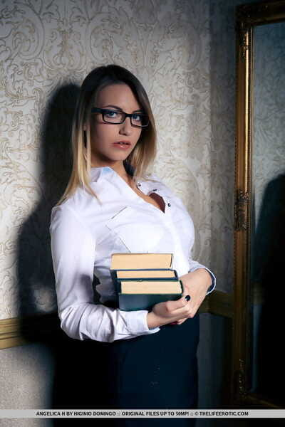 Nerdy female Angelica H..
