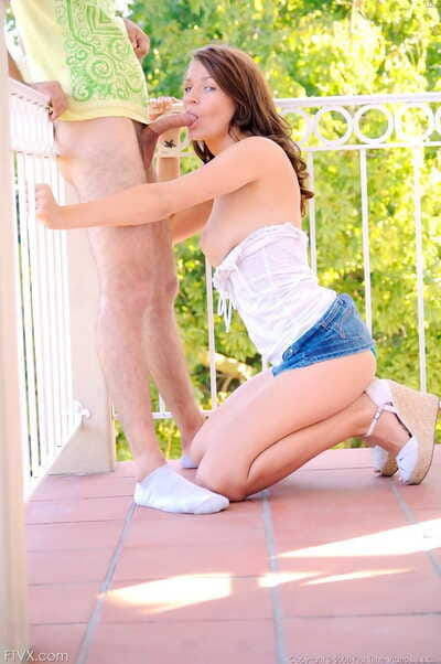 Innocent teen Gabby enjoys..