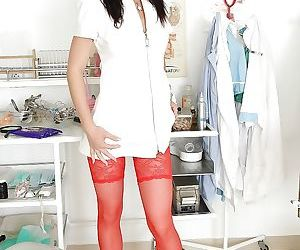 European nurse in sexy..
