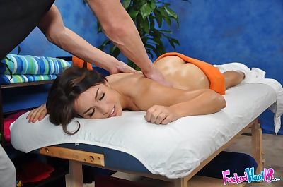 Dainty teen receives a full..
