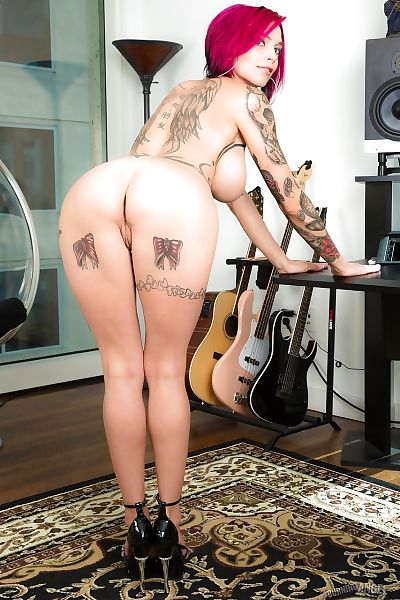 Tattooed erotic girl Anna..