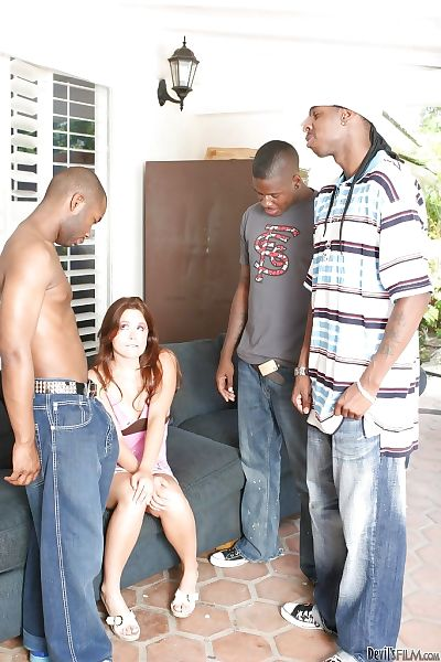 Interracial gangbang with..